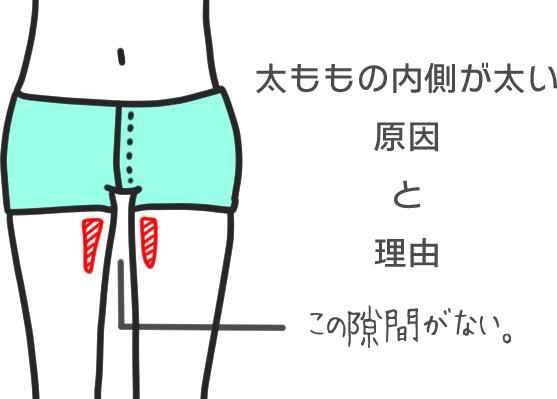 太ももの内側が太い原因と理由